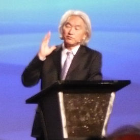 Cropped image from a larger one of Michio Kaku...