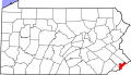 Map of Pennsylvania highlighting Philadelphia County svg.png