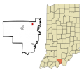 Crawford County Indiana Incorporated and Unincorporated areas Marengo Highlighted svg.png